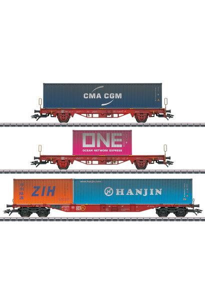 47580 Containerwagen-Set Lgs 580 DB