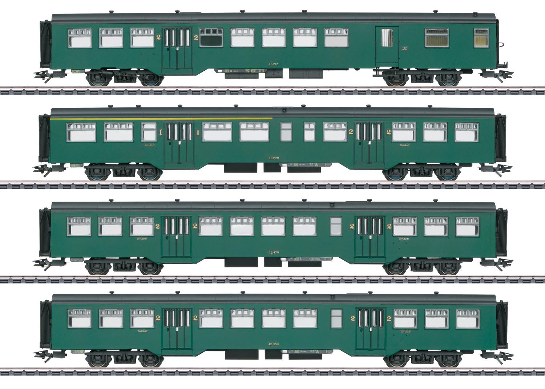 43546 Personenwagen-Set M2 SNCB-1