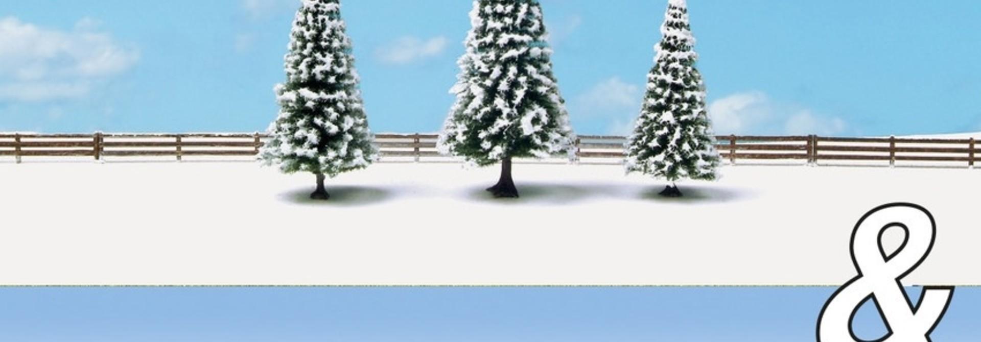 """94012 Ausschmückungs-Set """"Kinder im Schnee&Schneetannen"""""""