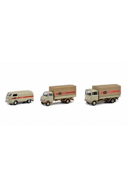 driedelige set 1:87 H0 met ''stückgut'' transporters