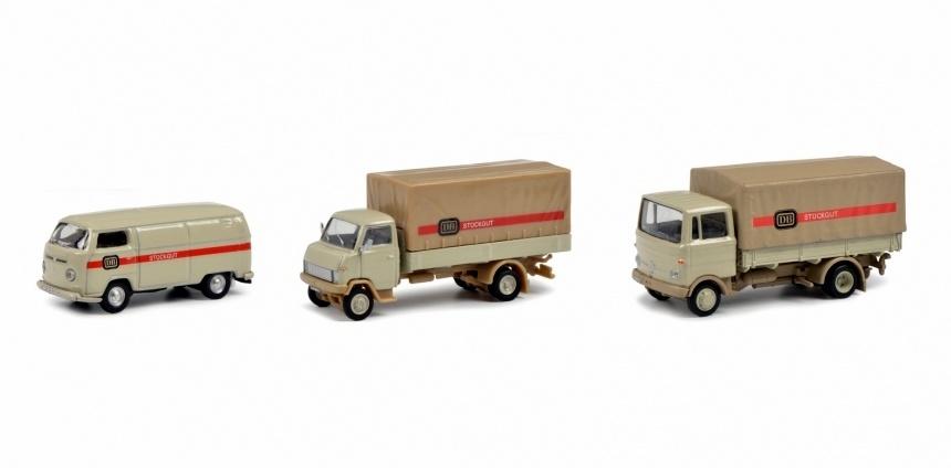 driedelige set 1:87 H0 met ''stückgut'' transporters-1
