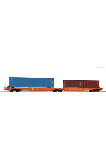 77360 dubbele containerwagen Wascosa
