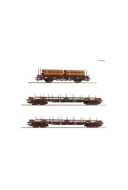 76053 3 delige staalwagenset