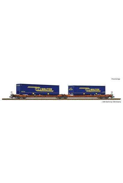 77393 Dubbele containerwagen T3000e + LKW Walter