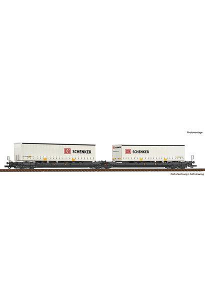 77390 Dubbele containerwagen T3000e + DB schenker trailer
