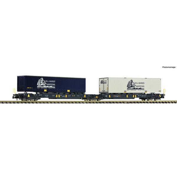 Fleischmann 825012 Dubbele gelede containerwagen