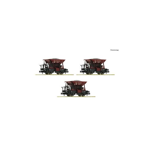 Fleischmann 822706 3 delige set: grintwagens