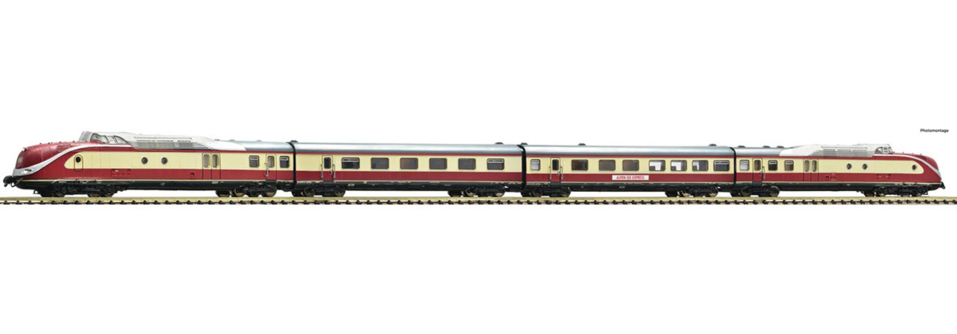 741085 4 delige dieseltreinstel BR 601
