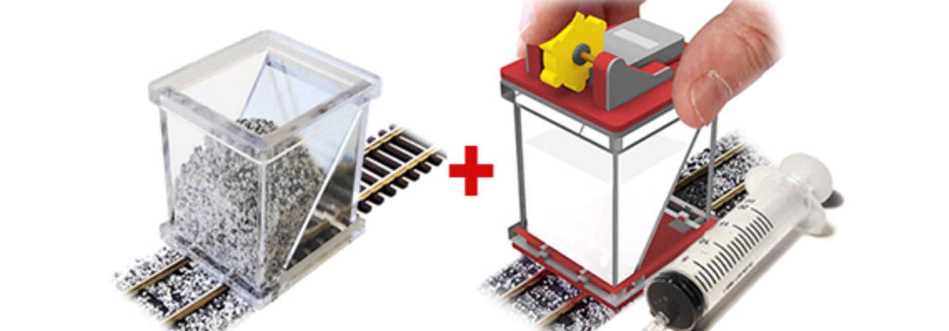 Ballast spreader & Glue applicator Spoor N
