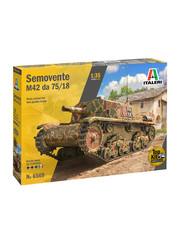 Italeri 1:35 tank SEMOVENTE M42 da 75/18