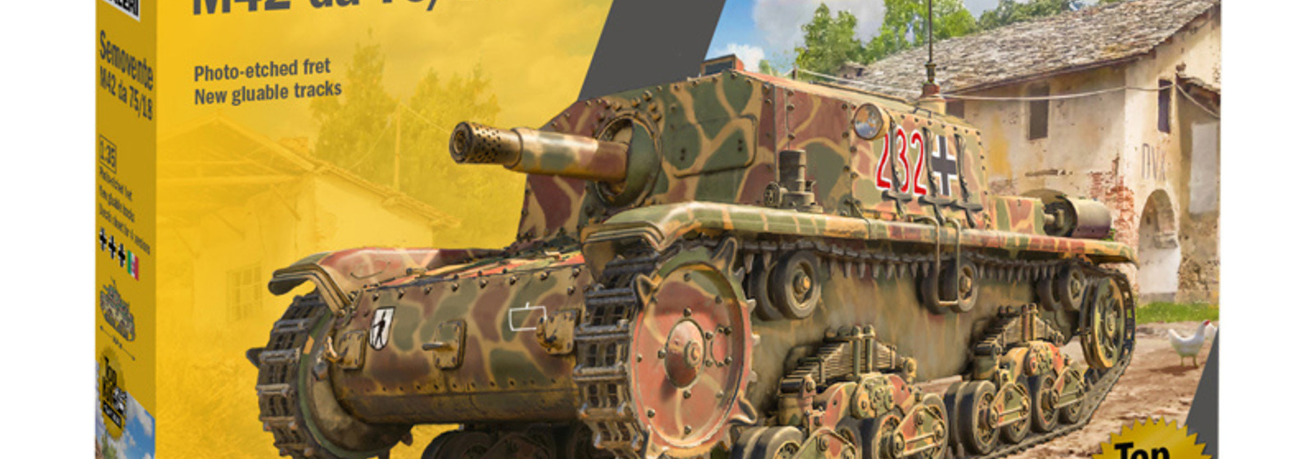 1:35 tank SEMOVENTE M42 da 75/18