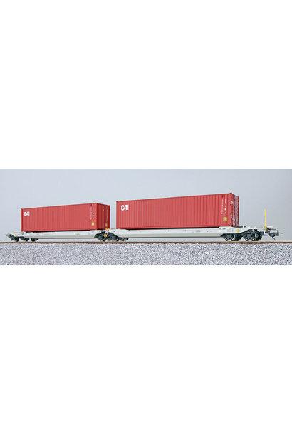 36540 H0 AAE containerwagen Sdggmrs CAI