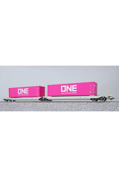 36542 H0 AAE containerwagen Sdggmrs ONE