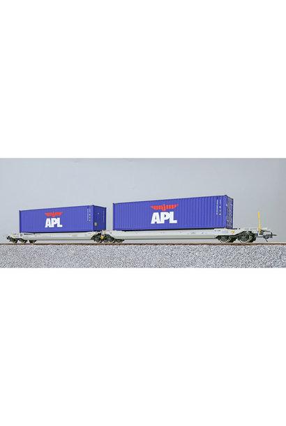 36544 H0 AAE containerwagen Sdggmrs APL