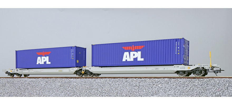 36544 H0 AAE containerwagen Sdggmrs APL-1