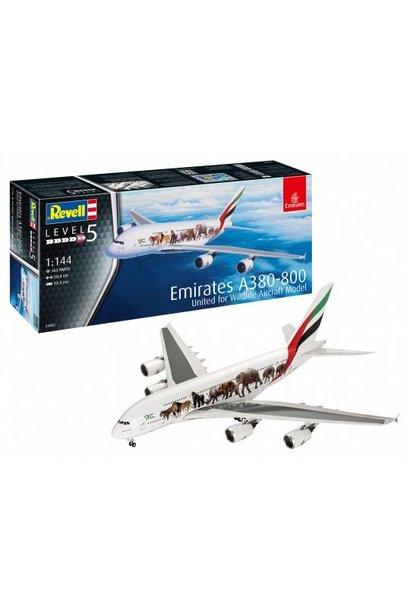 "Revell 1:144 Airbus A380-800 Emirates ""Wild L"