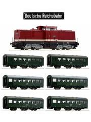 Roco ''Reichsbahn-Zug'' BR110 met REKO-wagens DCC sound