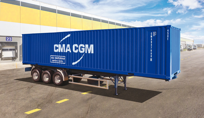 1:24 40' Container Trailer-1