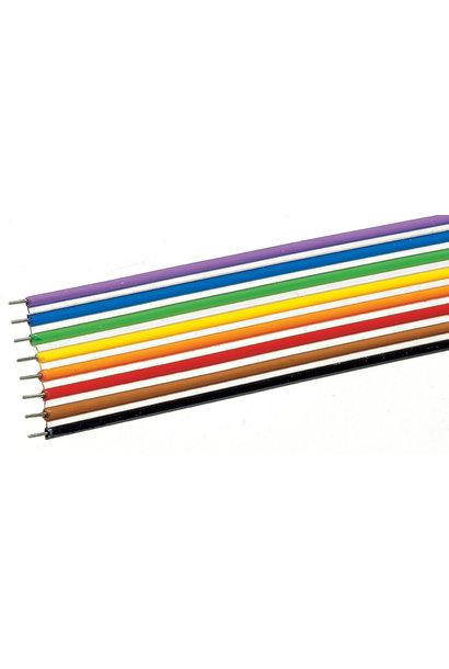 aansluitdraad paars 10m, 0,2mm