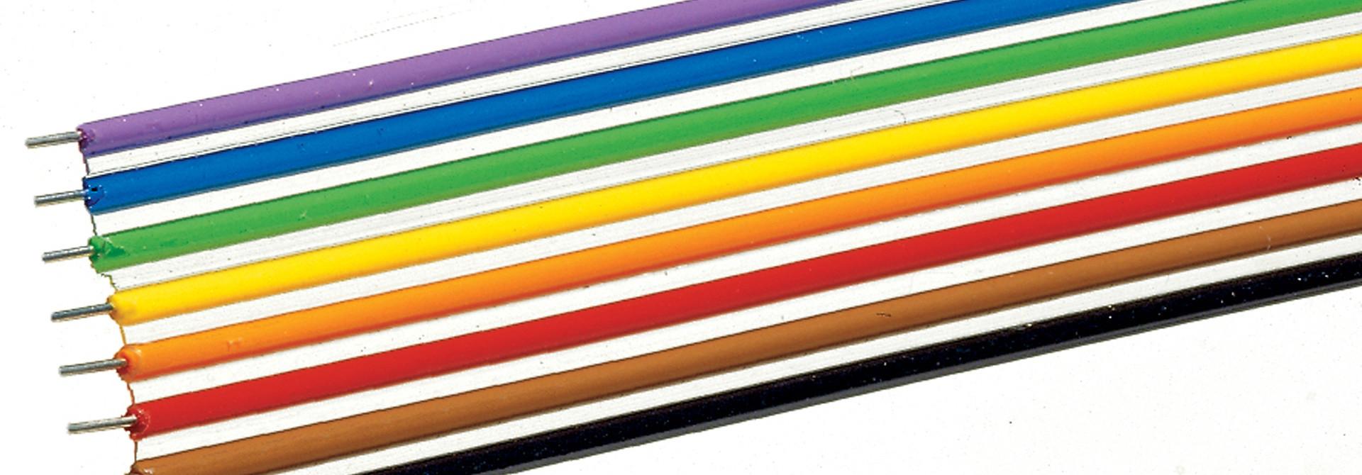 aansluitdraad geel 10m, 0,2mm