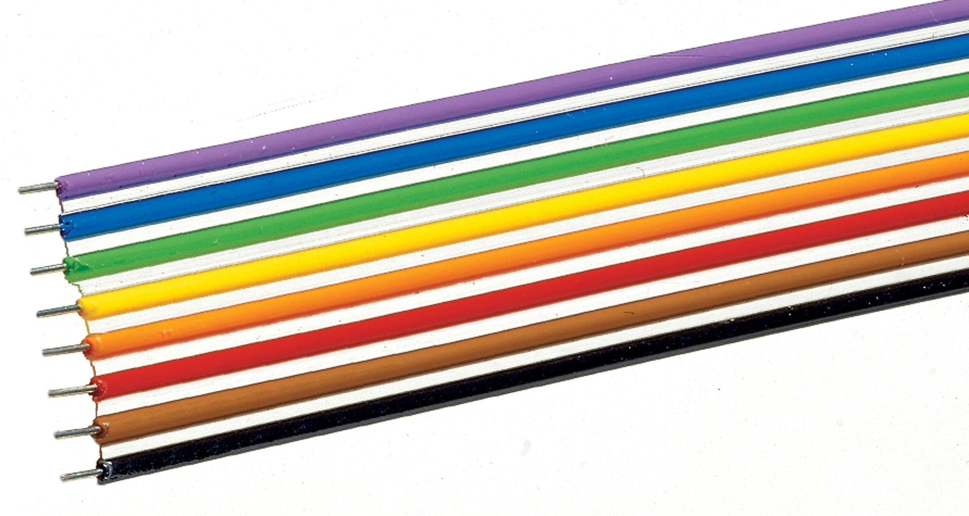 aansluitdraad grijs 10m, 0,2mm-2
