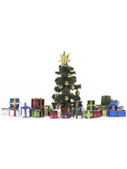 Busch 1140 kerstboom met pakjes H0