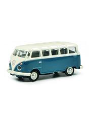 Schuco VW T1 Samba, blauw/wit