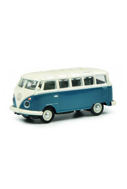 VW T1 Samba, blauw/wit