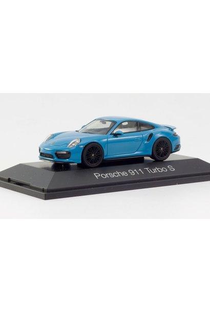 Porsche 911 Turbo S, blauw