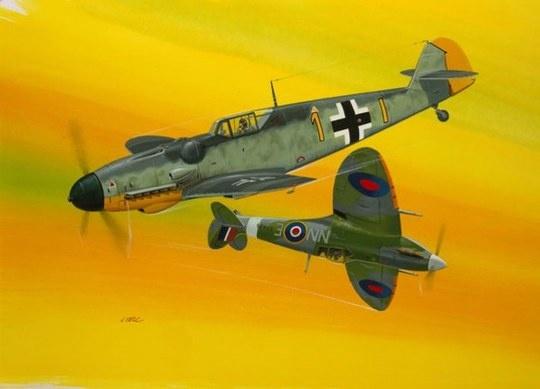 1:72 Combat Set Bf109G-10 & Spitfire-1