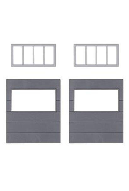 180891 2 Wandelemente mit horizontalen Fenstern, Goldbeck
