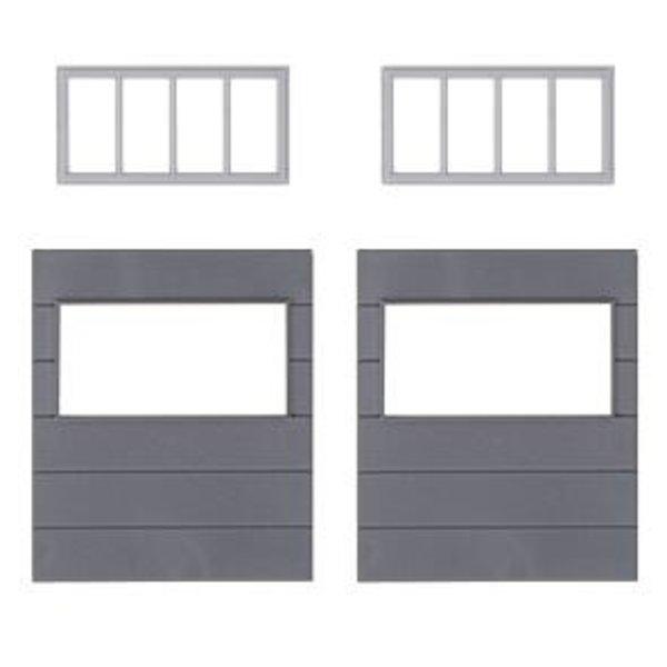 Faller 180891 2 Wandelemente mit horizontalen Fenstern, Goldbeck