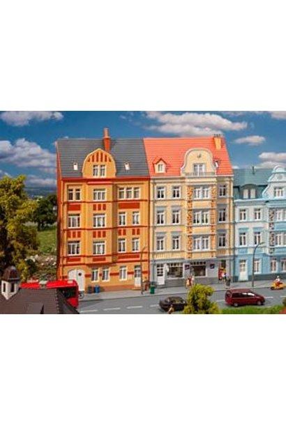 191758 2 Stadt-Reliefhäuser, 4-stöckig