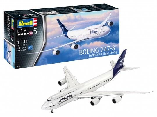 """1:144 Boeing 747-8 Lufthansa""""New Liver-1"""