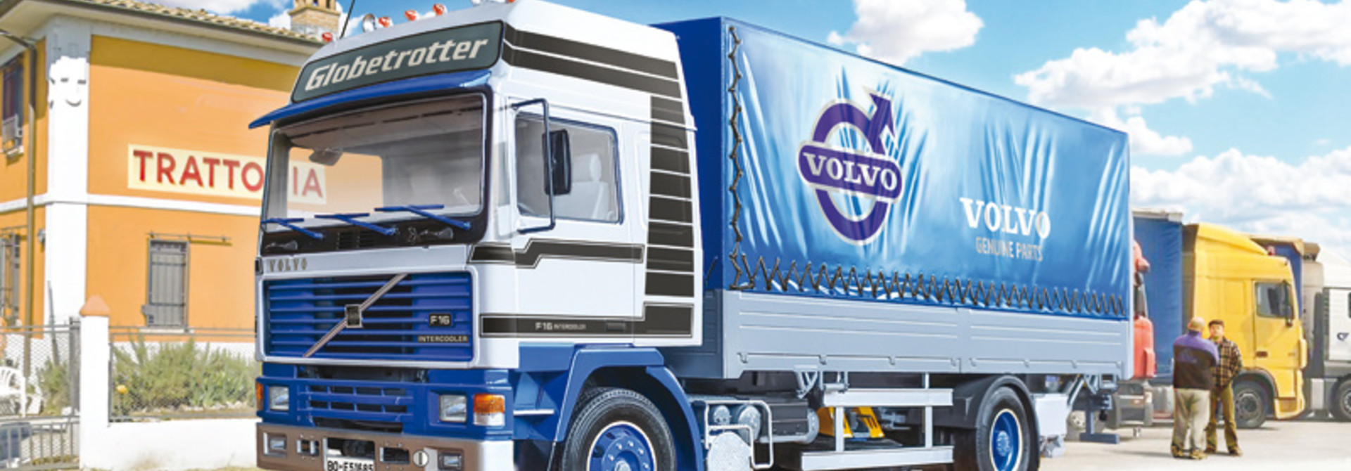 1:24 VOLVO F16 Globetrotter Canvas Truck with elevator