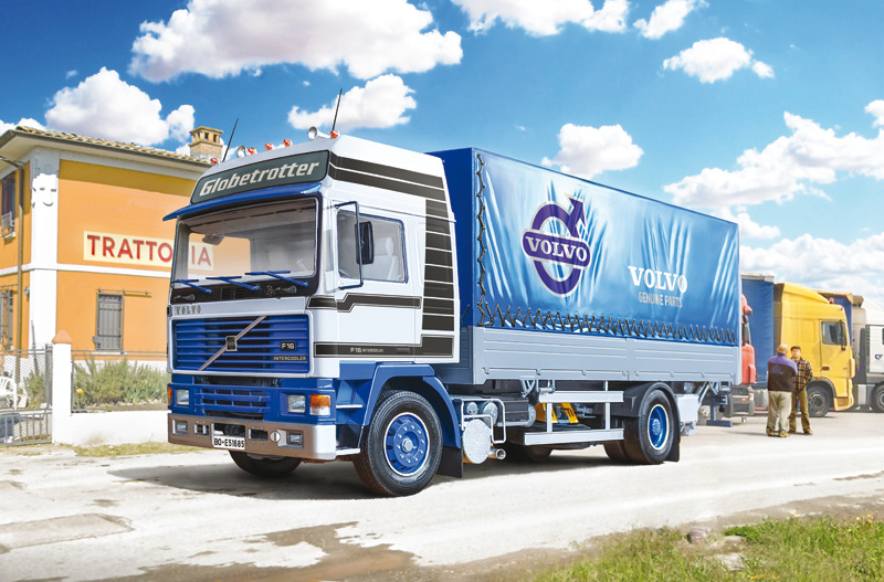 1:24 VOLVO F16 Globetrotter Canvas Truck with elevator-1