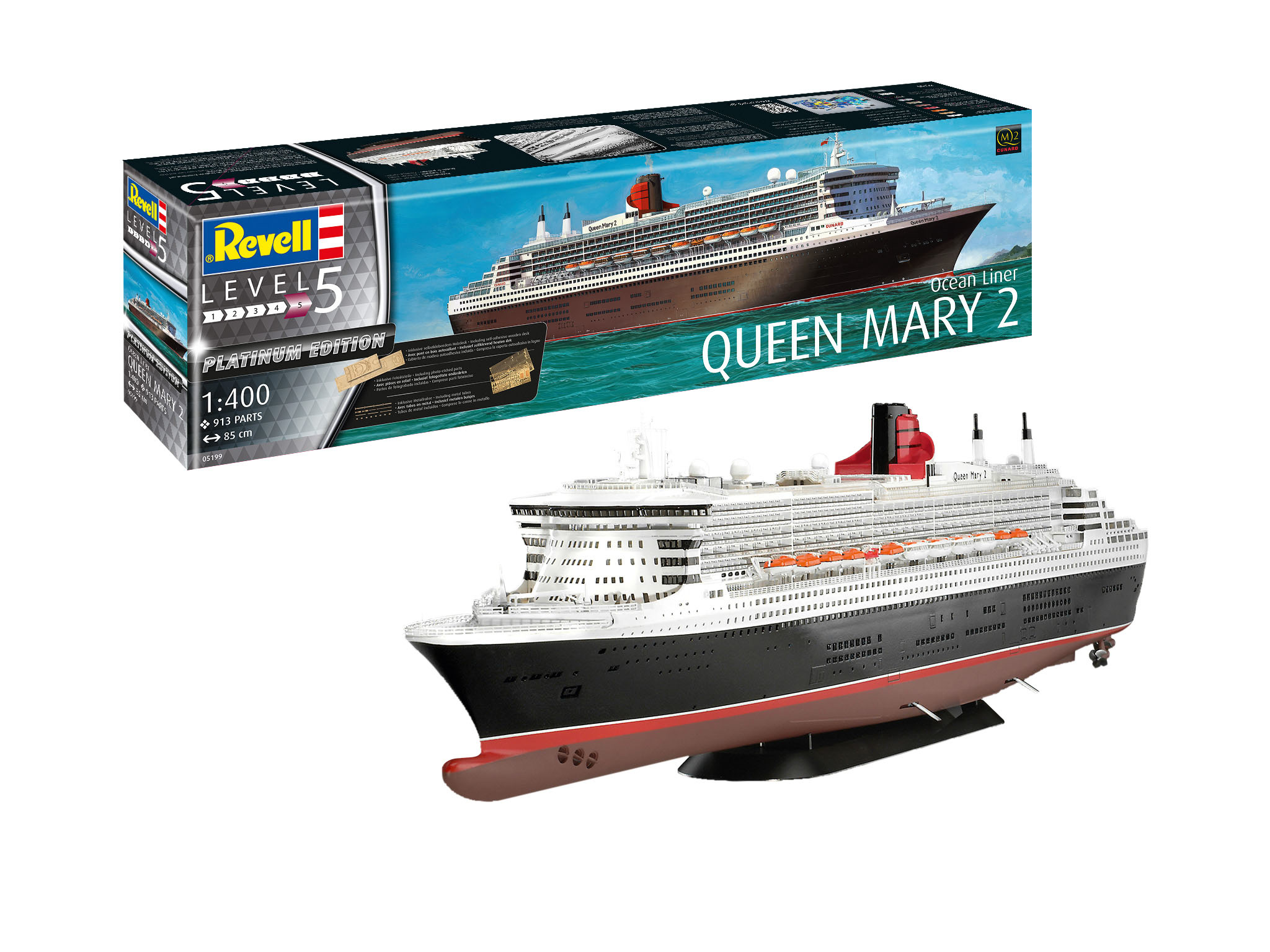 1:400 Queen Mary 2-1