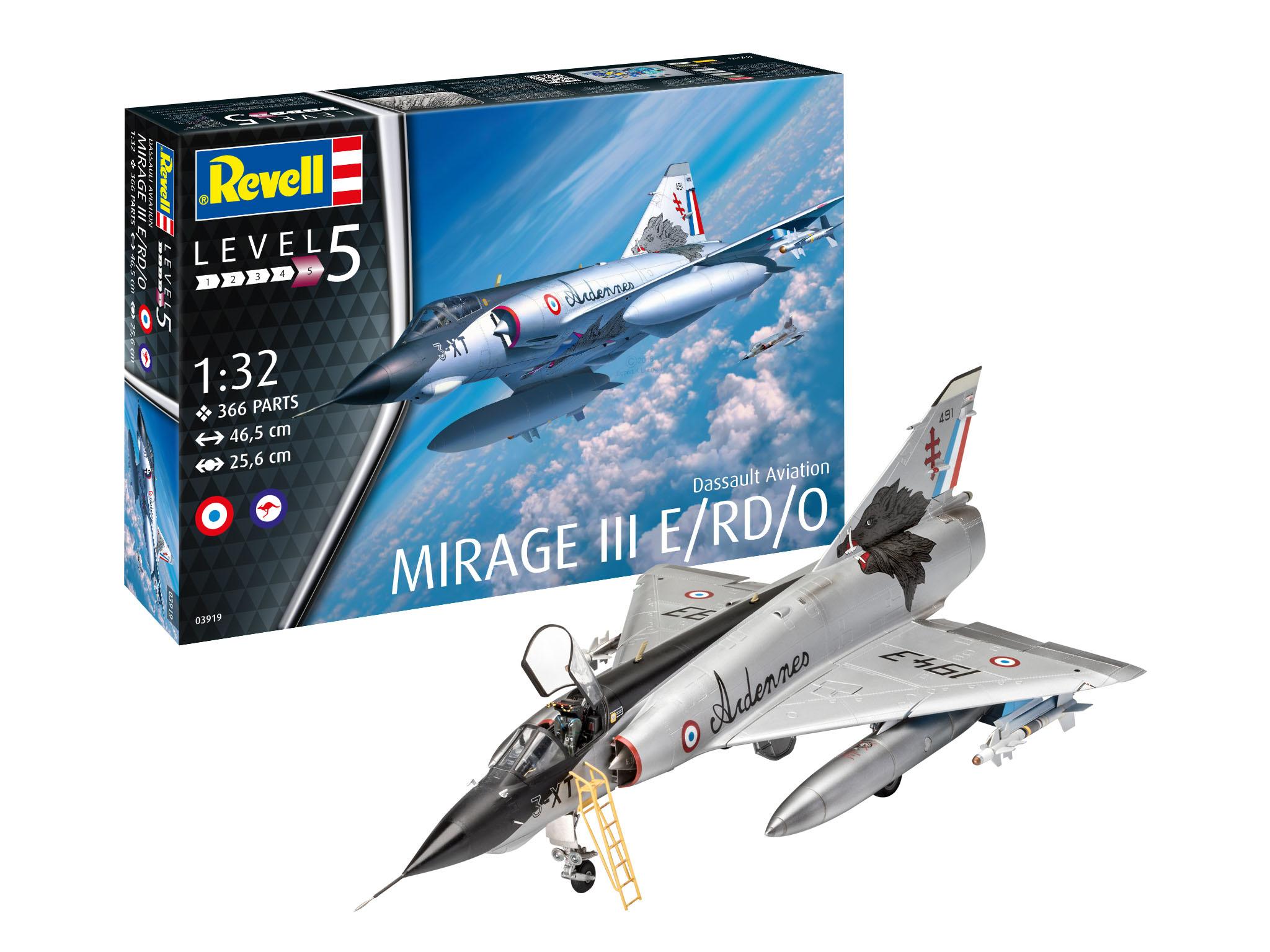 1:32 Dassault Mirage III E-1