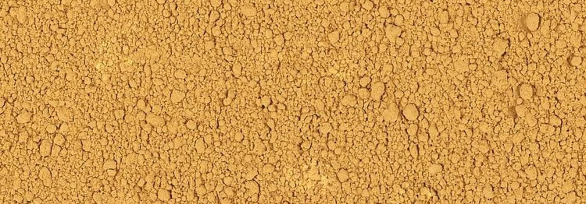 170820 Strooimateriaal, Poeder, kleiondergrond, okergeel, 240 g