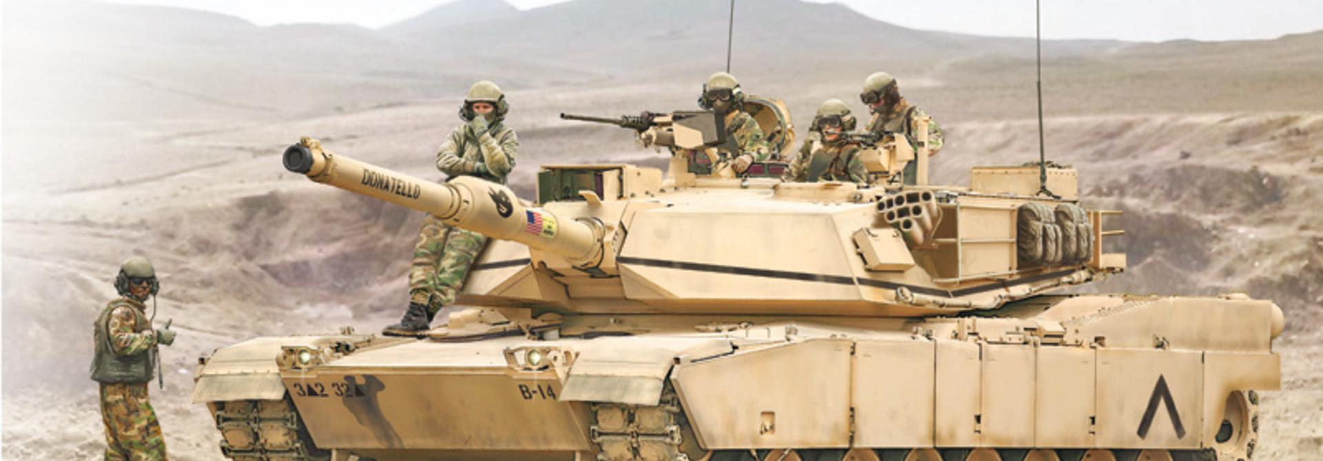 1:35 M1A1 tank Abrams