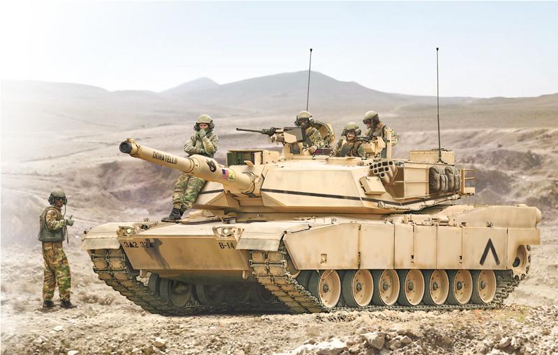 1:35 M1A1 tank Abrams-1