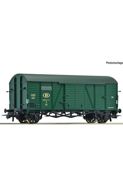 66886 gesloten goederenwagen van de Belgische Spoorwegen