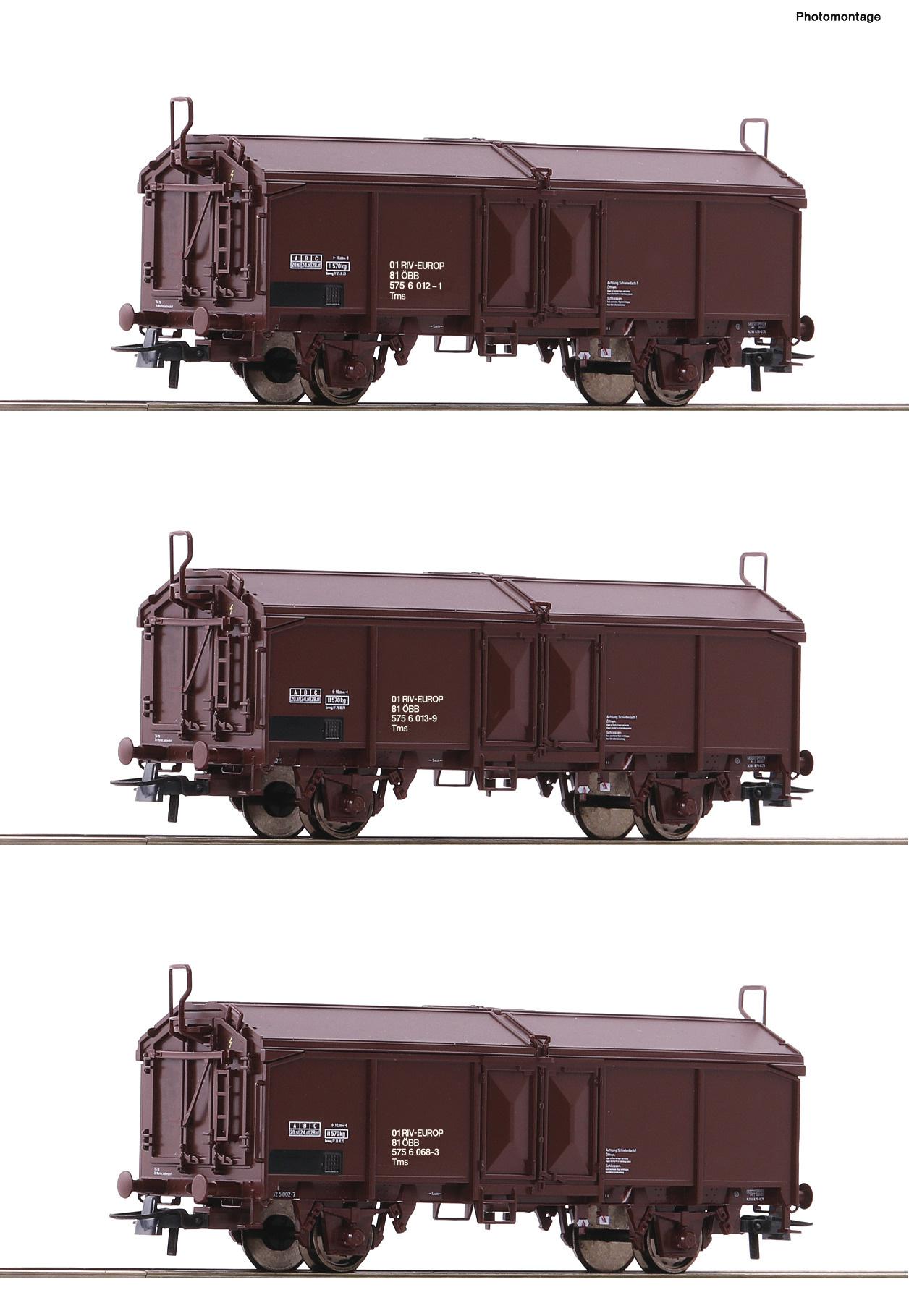 66178 3er Set Schiebd. Wag. ÖBB-1