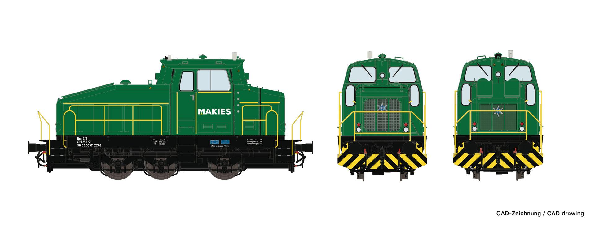 72180 Diesellok DHG 500 Makies-1