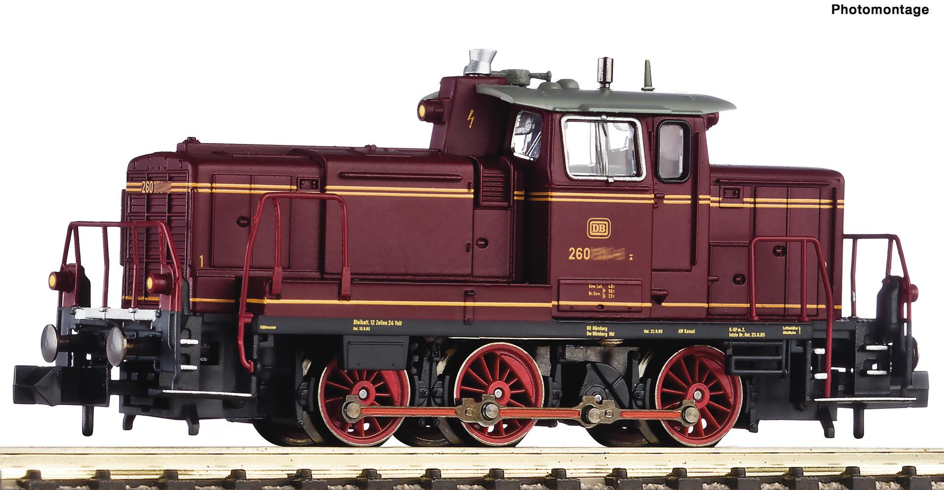 722481 Diesellok BR 260, rot DCC-1