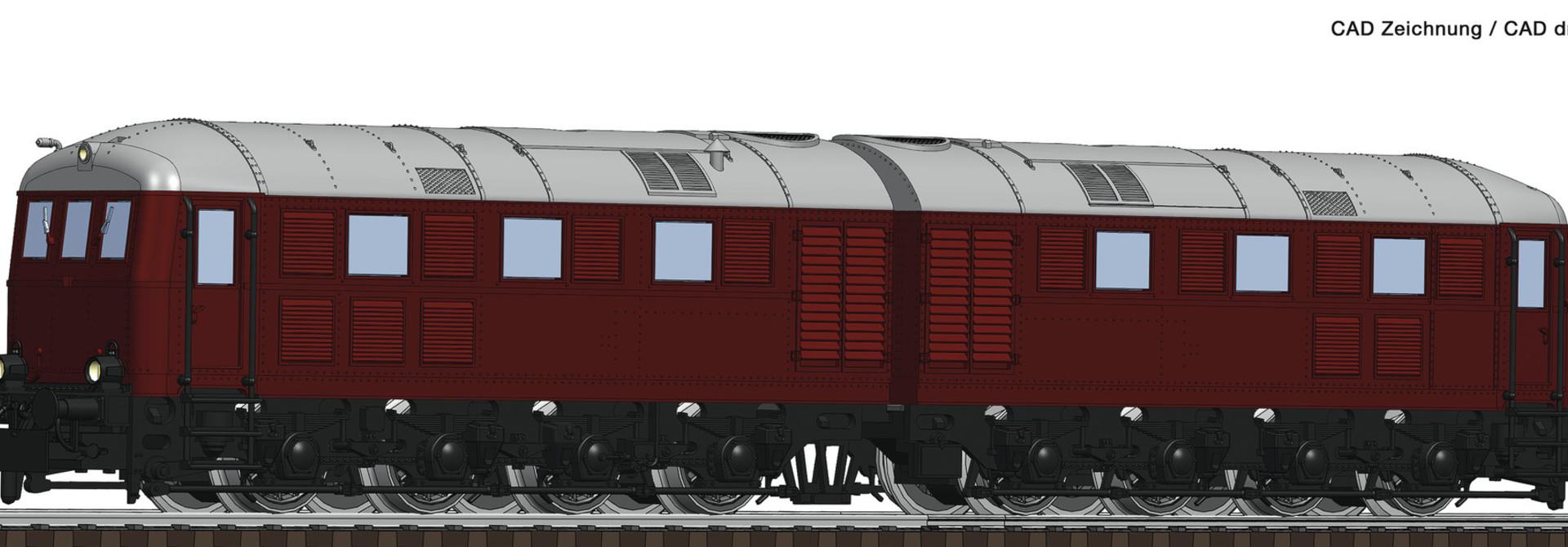 725100 Doppel-Diesellok BR288 rt.