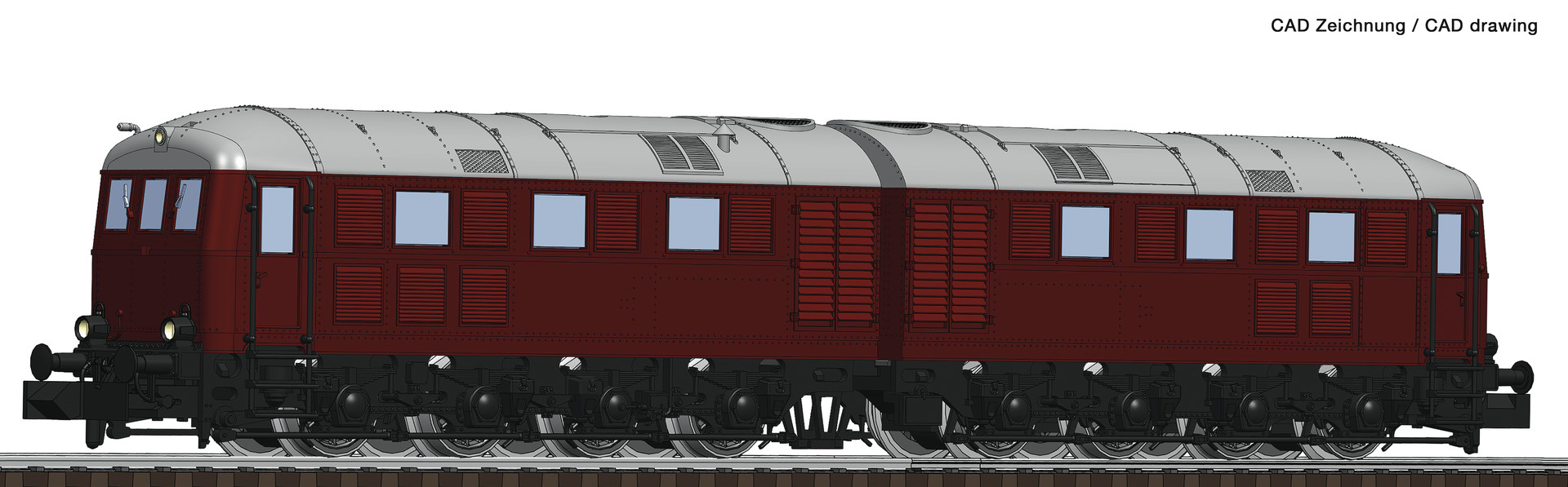 725100 Doppel-Diesellok BR288 rt.-1