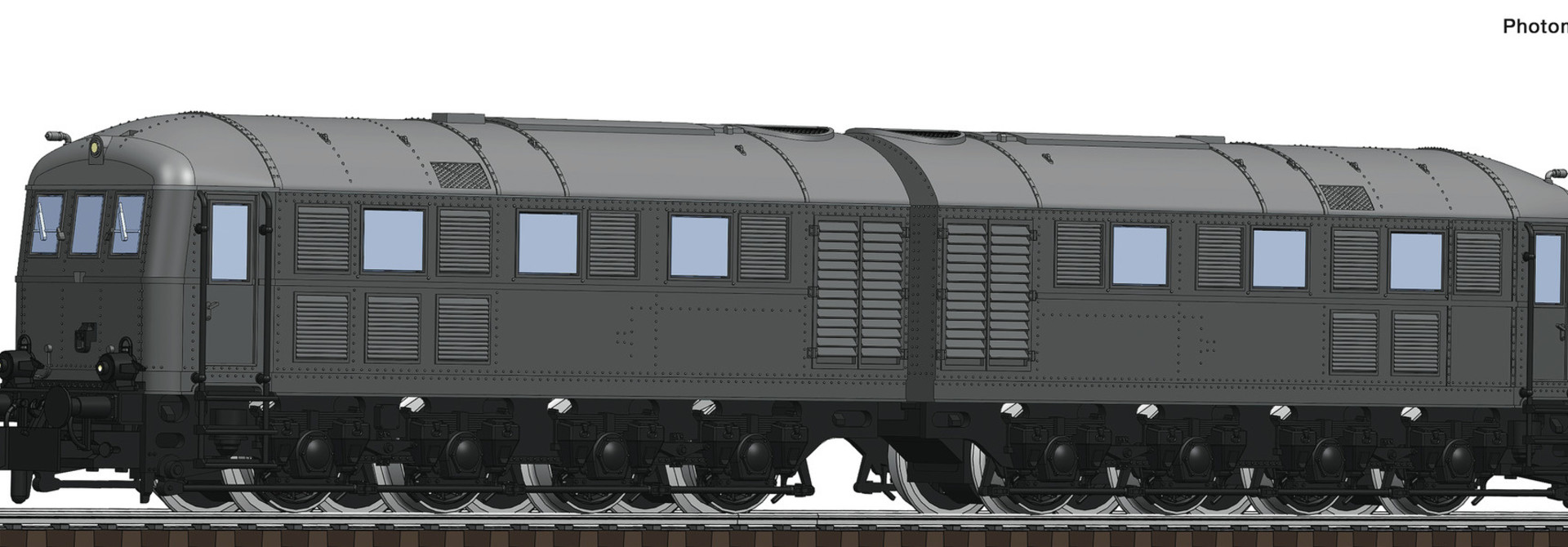725101 Doppel-Diesellok V188 grau