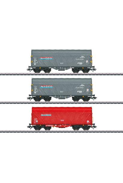47224 Schiebeplanenwagen-Set Nacco