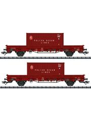 Trix 24555 Niederbordwagen-Set POL